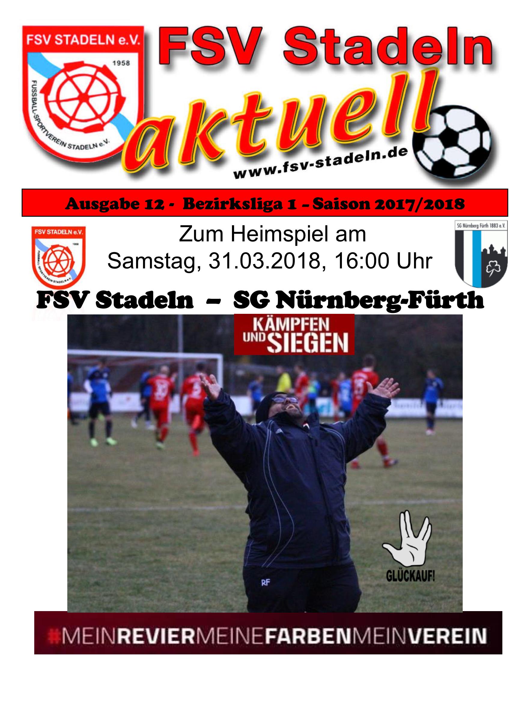 Stadionheft 12 zum Heimspiel des FSV Stadeln gegen SG Nürnberg-Fürth ...