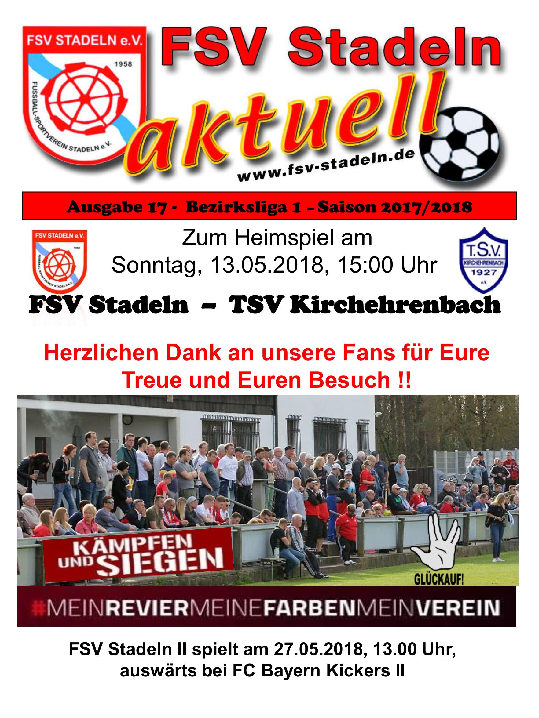 Stadionheft 17 zum Heimspiel des FSV Stadeln gegen TSV ...
